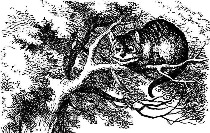 Cheshire Cat smiling