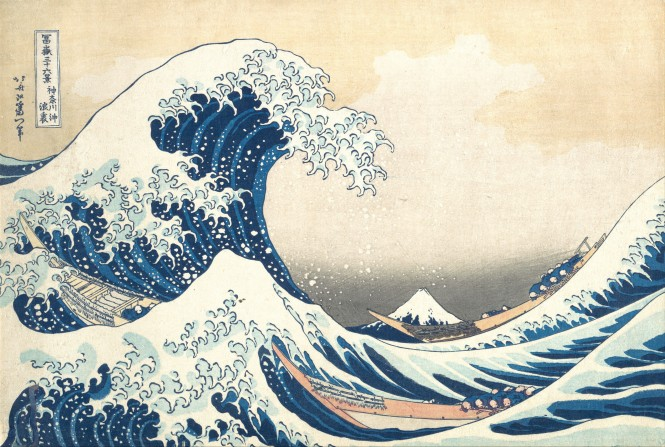 The Great Wave off Kanagawa -- Hokusai